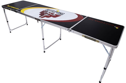 Folding Aluminum Beer Pong Table – HOMCOM