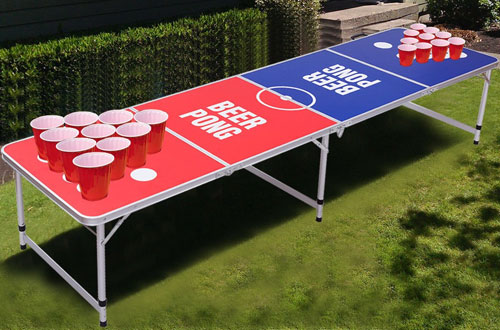 Folding and Portable Beer Pong Table for Party – Giantex