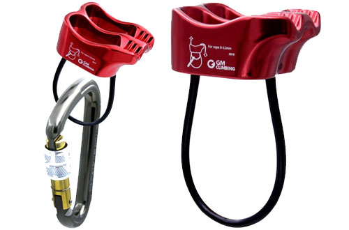 GM CLIMBING Micro Belay Device with Locking Carabiner