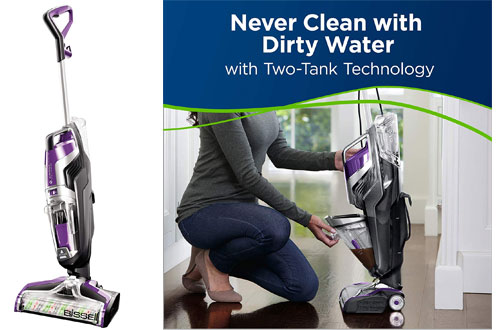BISSELL 2306A Crosswave Pet Pro Wet Dry Vacuum Cleaner & Mop for Hard floors & Area Rugs
