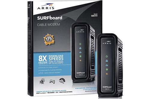 ARRIS SURFboard SB6141 8x4 DOCSIS 3.0 Black Cable Modem