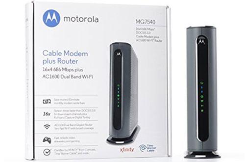 MOTOROLA MG7540686 Mbps Maximum DOCSIS 3.0Plus AC1600 Dual Band Cable ModemWifi Gigabit Router