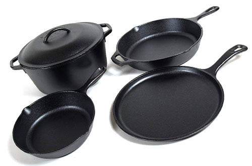 Lodge Seasoned Cast Iron - 5 Piece Bundle