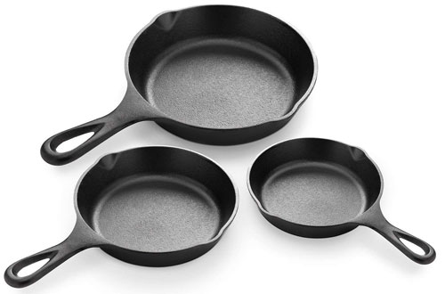Simple Chef Professional Heavy Duty Cast Iron Skillet