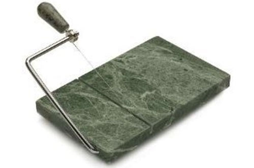 RSVP Polished 8 x 5 Green Marble Board Cheese Slicer