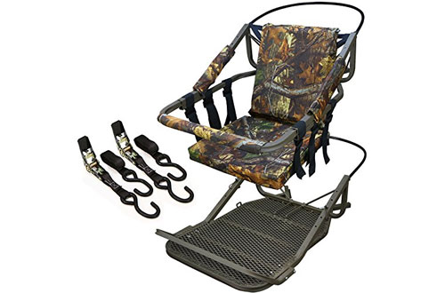 Generic Portable Hunting Tree Stand Climber with Step-On Platform