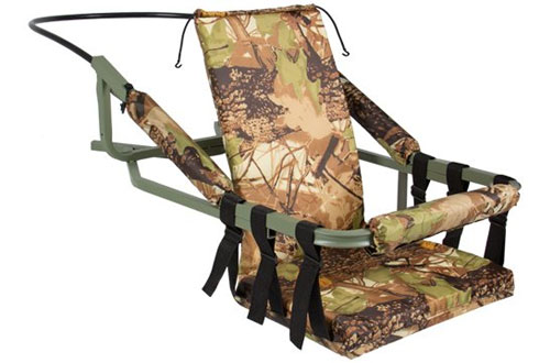 Portable Tree Stand Climber for Hunting Deer Bow Game with Harness