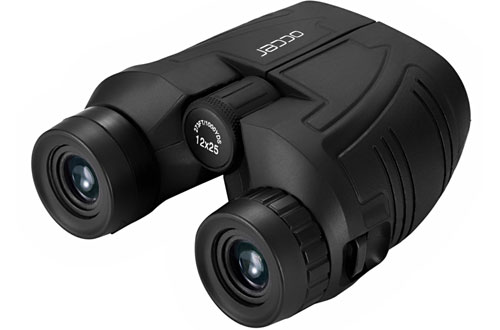 Occer Waterproof Compact Binoculars with Low Light Night Vision