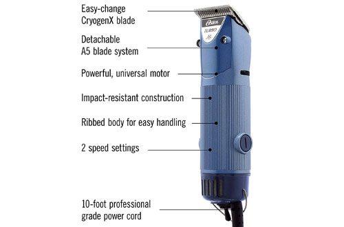 Oster Professional Heavy Duty Animal Grooming Clippers W/ Detachable Cryogen