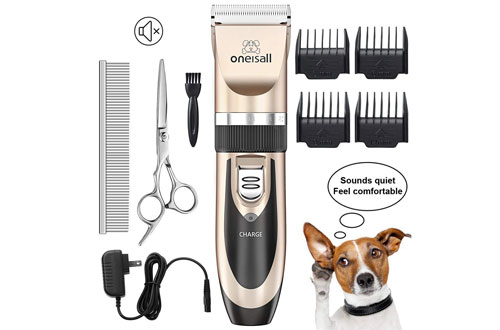 ONEISALL Electric Cordless Dog Hair Shaver & Hair Clippers Set for Dogs & Cats