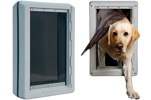 Ideal Insulting Ruff Weather Dog Door with Telescoping Frame