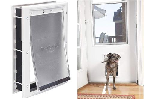 PetSafe Plastic Screen Pet Door with Soft Tinted Flapfor Dogs Up to 40 lb