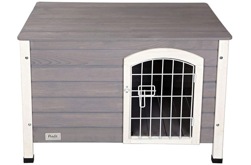 Petsfit Indoor Wooden Dog House for Small Dog with Wire Door