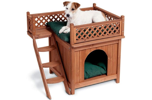 Merry Pet MPS002 Heated Wood Room with a View Pet House