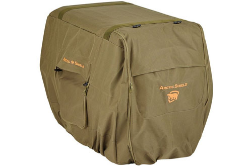 ArcticShield Uninsulated Large Kennel Cover for Winter Moss