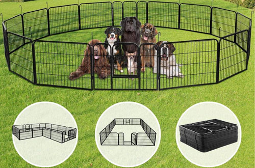 Yaheetech Heavy Duty Metal Pet Dog Exercise Playpen Kennel -16 Panels/8 Panels