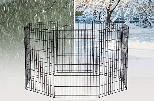 BestPet Foldable Dog Playpen Crate - Outdoor Dog Kennel for Playing Exercise