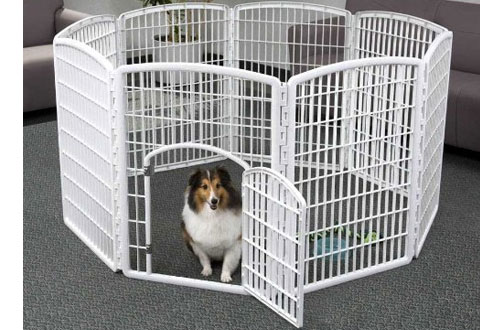 IRIS 34-Inch Dog Pen Panels with Door for Indoor and Outdoor Use