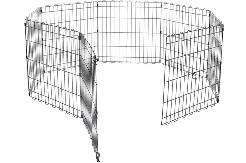 AmazonBasics Foldable Metal Pet Exercise Pen and Dog Play Pen