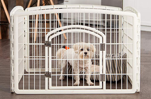 IRIS 24-Inch Indoor Small Dog Playpen with Door - 4 Panels