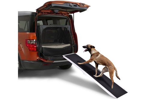 GoplusPortable Aluminum Folding Pet Ramp for Dog, Ladder, Car, Truck SUV - 250lbs