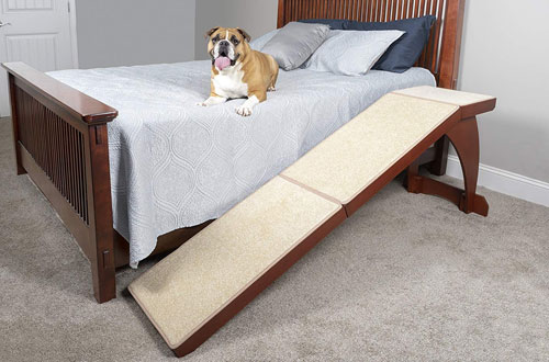 Solvit Indoor Wood Pet Ramp for Bed