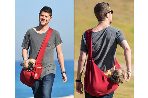 TimetuuReversibleDog Sling Carrier for small Dogs – Puppy pet Tote