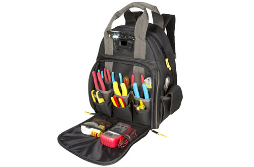 CLC Custom Leathercraft Tech Gear Lighted BackPack - 53 Pocket