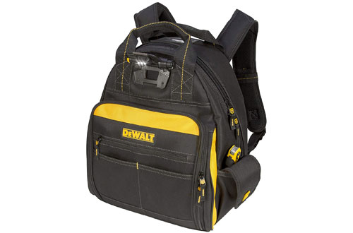 DEWALT DGL523 Lighted Tool Backpack - 57-Pockets