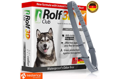 Rolf Club 3D FLEA and Tick Collar for 6-Month Dogs