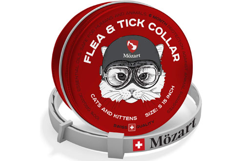 Mozart Flea and Tick Collar for Cats -6 Month Protection