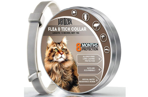 LOVATIC Adjustable & Waterproof Flea and Tick Collar for Cats