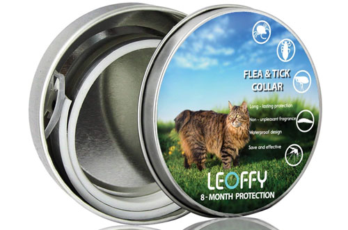 ERGMY Natural Ingredient Flea and Tick Collar for Cat for Prevention Up to 8 Months
