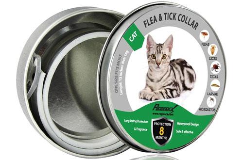 DYEOFAdjustable & Waterproof CatFlea Tick Collar
