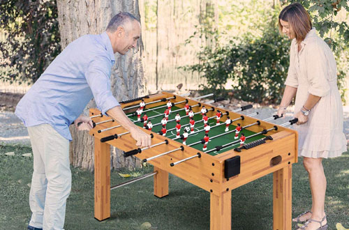 Goplus Competition Sized Foosball Table Soccer Table for Indoors