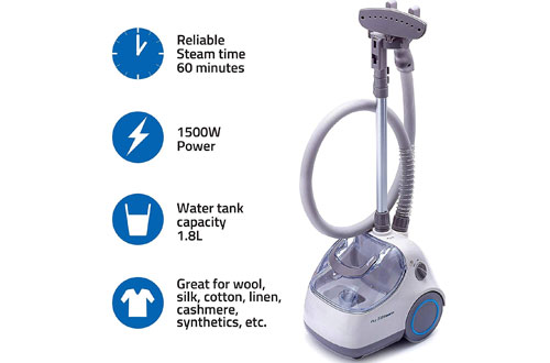 PurSteam Elite Powerful Garment Steamer with Fabric Brush & Garment Hanger