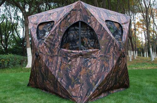 Portable 2-3 People Woodland Pop-Up Hunting Tent – Tangkula