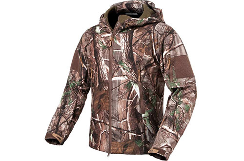 ReFire Gear Men's Military Tactical Jacket -Camouflage Hunting Clothes