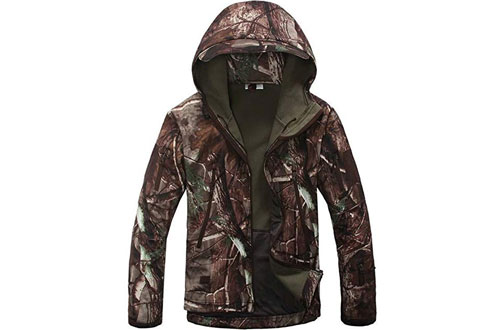 Eglemall Men's Outdoor Hunting Tactical Fleece Lined Jackets