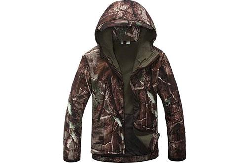 Eglemall Men's Outdoor Hunting Tactical Fleece Lined Jackets