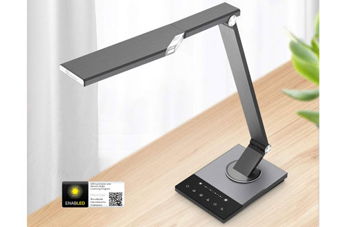 TaoTronics 5-Color Mode Metal LED Desk Lamp with 5V/2A USB Port