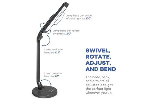 TaoTronics Fully Rotatable LED Desk Lamp withUSB Charging Port