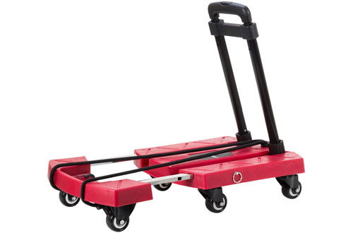 4ad09f0e83b8 Top 10 Best Portable Folding Luggage Carts with Wheels In 2019