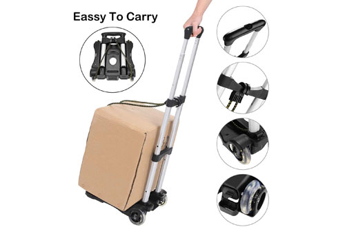 Coocheer Aluminum Folding Portable Luggage Cart