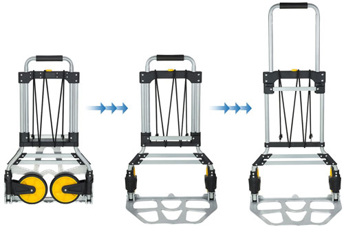Heavy Duty Hand Truck and Dolly with Rubber Wheels