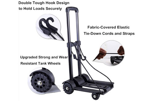 ROYIHeavy DutyFoldable Hand Truck -Compact and LightweightUtility Cart for Luggage and Travel