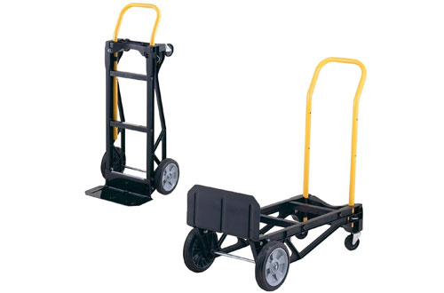 Harper Lightweight Plastic Convertible Hand Truck and Dolly - 400 lb Capacity