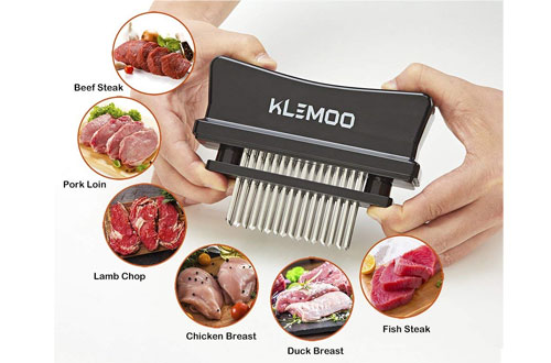 KLEMOO Kitchen Tool Meat Tenderizer Hammer with Stainless Steel Blades