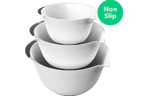 Vremi Small and Large Plastic Mixing Bowl Set for Kitchen