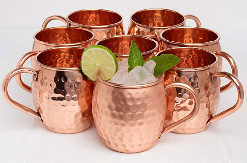 Kitchen Science Moscow Mule Hammered Copper Drinking Mug